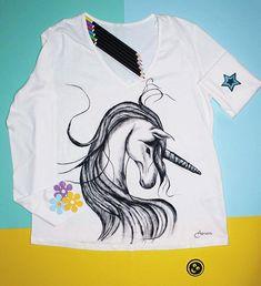#womanfashion #handpaintedclothing #tshirt #painting #clothing #art #artist #artistsoninstagram #handmade #handpainted #artonclothes #unicorn #unicorn #unicorns #top #painted #loveunicorns #artadis #customized #unique #oneofakind Painted Clothes, Diy Shirt, Unicorns, Adidas Jacket, Hand Painted, Drawing, Digital, Womens Fashion, Clothing