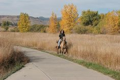 """Horse rider on Van Bibber Trail - walked this trail today with the kids, nice views, easy """"hike"""" for kids."""