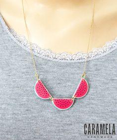 Collar de sandía / collar de frutas por CaramelaHandmade en Etsy