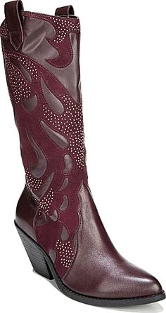Carlos By Carlos Santana Shoes - Stunning and sophisticated the Axel boot from Carlos by Carlos Santana is an outfit-making show stopper. Leather upper with an intricate decorative design embellishment throughout and a pointed toe. - #carlosbycarlossantanashoes #wineshoes