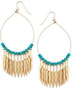 Jamie Jewellery Multi Feather Hoop Earrings
