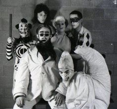 Backstage at A Clowns' Sodom, 1976