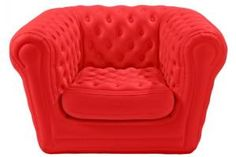 The Blofield collection is available to rent nationwide through CORT Event Furnishings. The line includes an inflatable loveseat and chair made from a durable vinyl material designed to withstand snow, sand, and heat. In addition to cream and black, CORT now offers Blofield seating in vibrant red, too. #outdoor #event #furniture