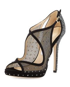 Jimmy Choo Leondra crystal evening shoes