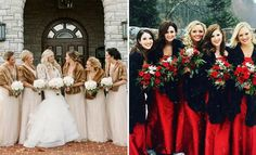 Winter wedding bridesmaids dresses can come in a range of styles and designs. If you're struggling to find some unique ideas, why not look at these?