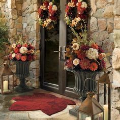 Rich autumnal-toned faux dahlias and Victorian roses are artistically arranged in our Autumn Dahlia Collection.