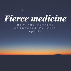 New post: A review of Ana Forrest's book and how it taught a cynical engineer to connect with spirit: http://www.amplifyoga.com/fierce-medicine/