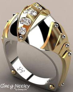 Brilliant Luxury by Emmy DE * Greg Neeley Knights Vision Mens Ring