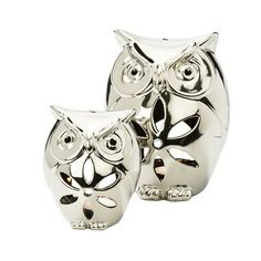 mum Christmas?  These 'Set Of 2 Chrome Owl Tealight Holders' are an exquisite addition to any home £4.99