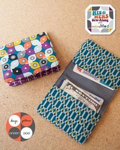 Quality Sewing Tutorials: Simple Wallet tutorial from Green Bee Design & Patterns Sewing Hacks, Sewing Tutorials, Sewing Crafts, Sewing Projects, Tutorial Sewing, Wallet Sewing Pattern, Leather Wallet Pattern, Tote Pattern, Diy Wallet Tutorial