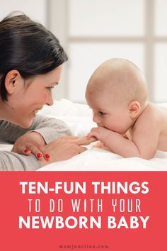 10 Fun Things To Do With Your Baby: Holding your newborn in your arms & gazing is priceless! Want to introduce play to your newborn? Here are 10 fun newborn baby activities that you will love. Newborn Activities, Toddler Activities, Learning Activities, The Joys Of Motherhood, Newborn Care, Newborn Babies, Der Arm, Baby Supplies, After Baby