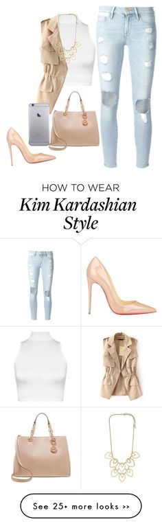 """Kim Kardashian look"" by gabymailk on Polyvore Love this tight, but feminine street style."