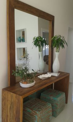trendy Ideas for house entrance ideas entryway shelves Home Entrance Decor, House Entrance, Entryway Decor, Entrance Ideas, Entrance Halls, Hallway Ideas, Mirror Decor Living Room, Small Space Interior Design, Foyer Decorating