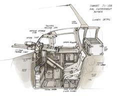 Space Stuka Gunner Detail by MikeDoscher on DeviantArt Luftwaffe, Ww2 Aircraft, Military Aircraft, Steampunk Ship, Gun Turret, Air Fighter, Experimental Aircraft, Military Equipment, Model Airplanes