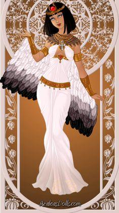 Goddess of motherhood, magic and fertility. Done with Goddess Maker by ~AzaleasDolls Isis, The Winged Goddess