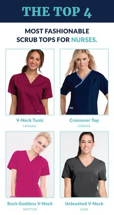 Check out some of the most popular scrub tops from top scrub brands.. All available at ScrubShopper.com!