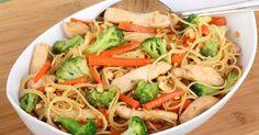 Recette de Nouilles sautées au poulet. Facile et rapide à réaliser, goûteuse et diététique. Ingrédients, préparation et recettes associées.