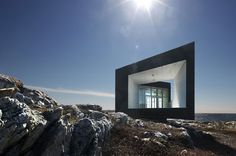 architecture: fogo island studios Fogo Island Studios designed by Saunders Architecture. One of six artist studios in Newfoundland, Canada.Fogo Island Studios designed by Saunders Architecture. One of six artist studios in Newfoundland, Canada. Fogo Island Inn, Architecture Design, Minimal Architecture, Amazing Architecture, Scandinavian Architecture, Container Architecture, Dezeen, Geometric Art, House Design