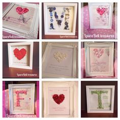 A collage of button frames available on etsy www.etsy.com/shop/laurabelltreasures