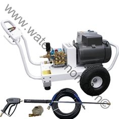 Electric Pressure Washer-Single Phase-TEFC Commercial Industrial Grade Motor 7.5HP-AR/General Pump-4.0GPM-3000PSI.Features  • TEFC Commercial Grade Industrial Grade Motor  • Single Phase 33 Amp   • 230 Volt   • 12' Cord No Plug  • Portable  • Poly Chain Drive   • Great Warranties - 2 year engine warranty; 5 year pump warranty; Lifetime Manufacturer's Frame Warranty   • 50 ' Attachment Kit - Hose, Trigger Gun, Wand  • Chemical Injector & Quick Connect Nozzles  • Assembled in USA sku:13M21