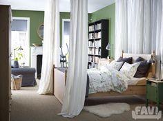 Moderní ložnice inspirace - Zelené ložnice IKEA - Favi.cz