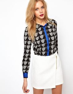 Lavish Alice Tiger Print Blouse