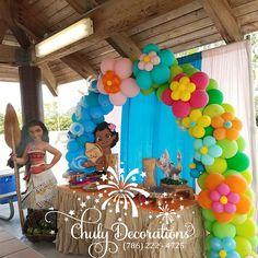 Moana Birthday Party Theme, Moana Themed Party, Luau Theme Party, Moana Party, Birthday Party Decorations, Hawaiian Birthday, Girl 2nd Birthday, Luau Birthday, 3rd Birthday Parties