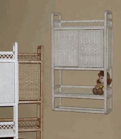 Wall Cabinet with doors via @wickerparadise #bathroom #cabinet #wall #wicker www.wickerparadise.com