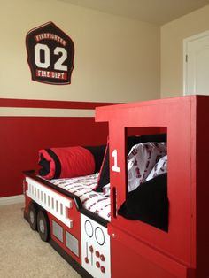 Fire Truck Bed. Boys bed | Products I Love | Pinterest | Boy beds