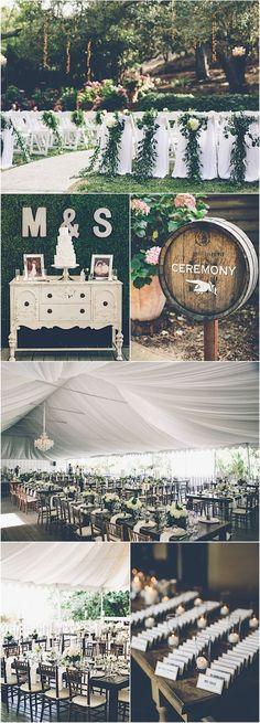 Chic and green wedding // Gina & Ryan Photography; Wedding inspiration
