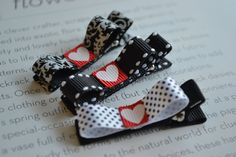 Girls Hair Clips- Hair Clippies- Baby Hair Clips-Valentine Hair Clips