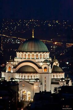 The Cathedral of Saint Sava in Vračar, Belgrade, Serbia is the largest Orthodox church in the world.  Building was to begin around 1900; however, because of the Balkan Wars, World Wars I an II, it was not completed until 1989.  by Nemanja Manjenčić