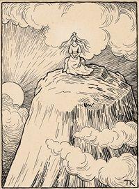 Princess on the Glass Mountain by Theodor Kittelsen Fairy Tales, Illustrator, Folk, Illustration Art, Auction, Mountain, Princess, Enchanted, Glass