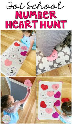 Plemons' Kindergarten Get moving and learning with this number scavenger hunt game. Perfect for learning numbers in tot school, preschool, or the kindergarten classroom. Valentines Games, Valentine Theme, Valentine Crafts For Kids, Valentines Day Activities, Preschool Learning Activities, My Funny Valentine, Toddler Activities, Preschool Activities, Teaching Ideas