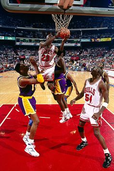 43a6682bfc2 June 1991 - Michael Jordan drove the lane against the Los Angeles Lakers in  Game 2 of the 1991 NBA Finals. The vintage Jordan effort helped the Bulls  beat ...