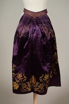 Afternoon apron | American | 1875 | silk | Brooklyn Museum Costume Collection at The Metropolitan Museum of Art | Accession #: 2009.300.4400