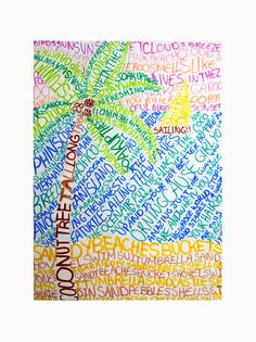 LANDSCAPE (typography) by heidabjorg, via Flickr Helps students become more comfortable using a thesaurus to find more words.