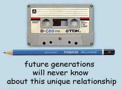 cassette and pencil relationship