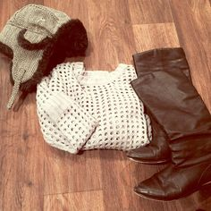 BOGO FREE! Soooo warm and soft. Gray/black chevron sparkly fabric. Perfect condition. 15% off all bundles!  Target Accessories Hats