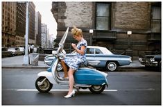 vintage everyday: A girl on a scooter, New York City, 1965