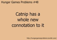 i actually have a guy friend who calls me Catnip now. I think it's cause when we went to the premiere with our other friends i wore my hair in a side braid with my Hunger Games shirt on