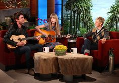 Taylor Swift and Zac Efron perform a song they wrote for Ellen