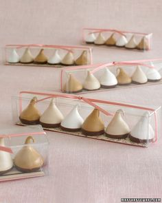 Italian Meringue Drops - Vanilla, Coffee, Chocolate flavors- Martha Stewart Recipes