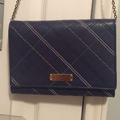 """Make me an offer! Marc Jacobs All-in-One crossbody NEVER USED! Navy blue leather bag with varied color stitching. The inside flap has a built in mirror. 17"""" removable strap option. Dust bag included. All tags still attached. Marc Jacobs Bags Crossbody Bags"""