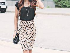 #Moda #Tendencias #Looks #Outfits #Belleza  #FaldaTubo #faldas