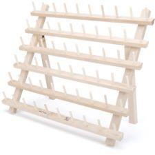 Wooden Spool Rack Holds 60 Spools Coiling String Organizer Storage Rack Cotton