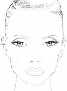 Makeup Face Charts Blank 68 New Ideas Face Chart Mac, Face Template Makeup, Blank Coloring Pages, Makeup Face Charts, Make Up Gesicht, School Makeup, Face Art, Face Shapes, Woman Face