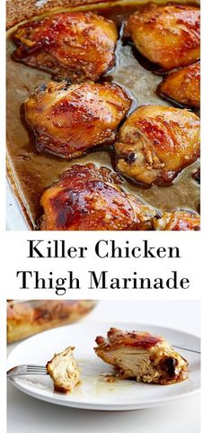 How to make Easy Killer Chicken Thigh Marinade Recipe. You can the instruction details on the link. Yummy Recipes, Yummy Chicken Recipes, Turkey Recipes, Cooking Recipes, Healthy Recipes, Recipe Chicken, Chicken Theighs, Chicken Thigh Recipes Easy, Christmas Chicken Recipes
