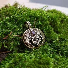 Sterling silver Lunula pendant . Moon Crescent Necklace от RuyaN