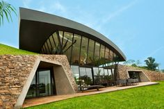 Twin Modern Home Design in Paraguay Determined by Unusual Land Intervention